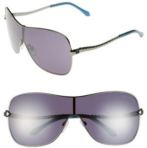 Roberto Cavalli Agena Gunmetal/Blue Sunglasses